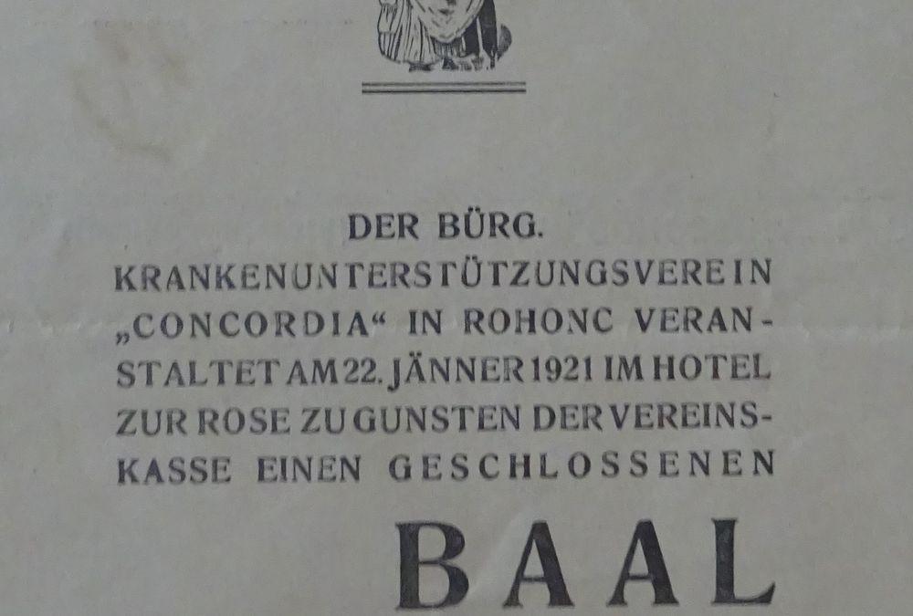 Balleinladung vom 22.01.1919