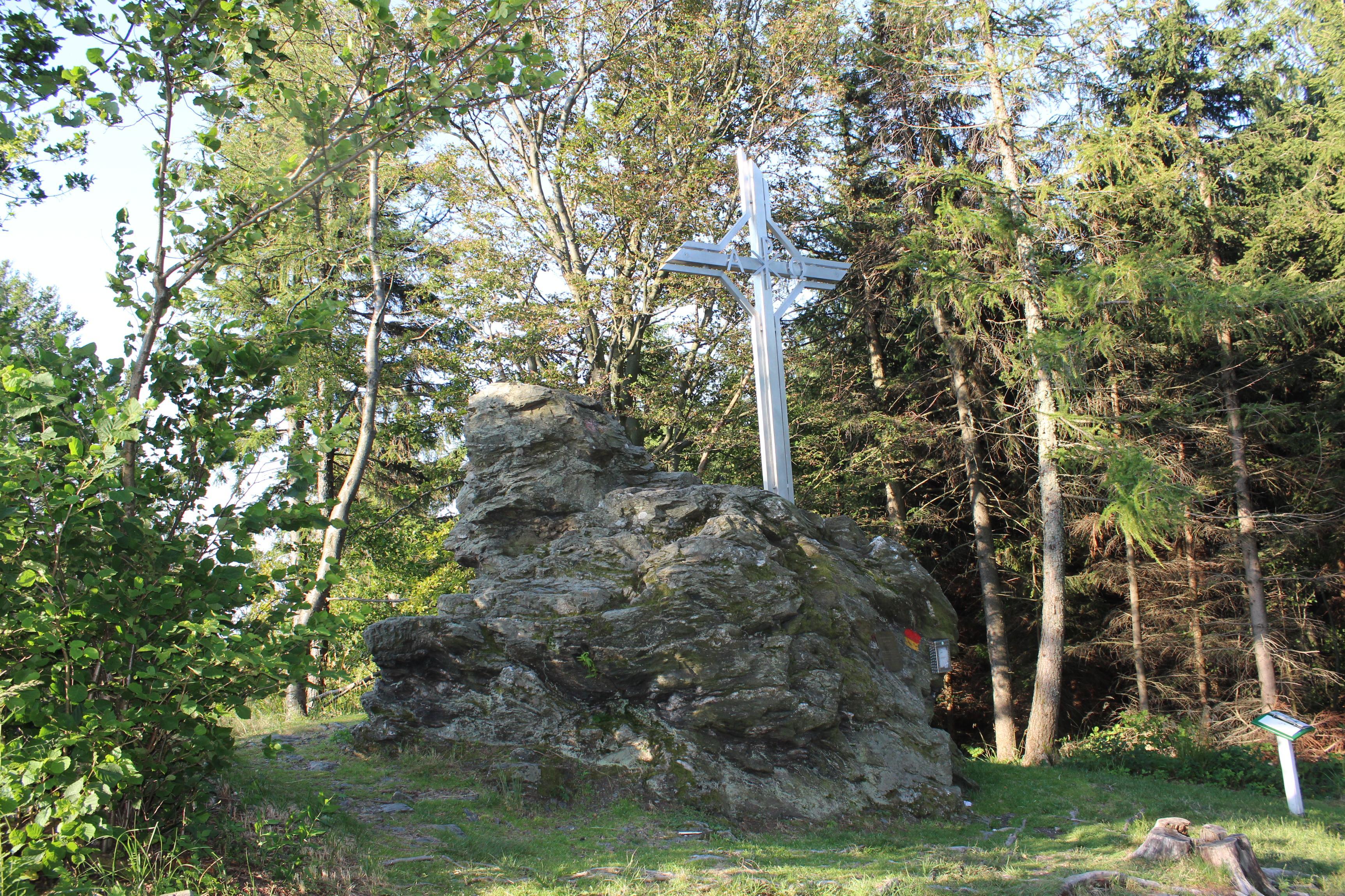 Gipfelkreuz am Hirschenstein, Geschriebenstein, Südburgenland