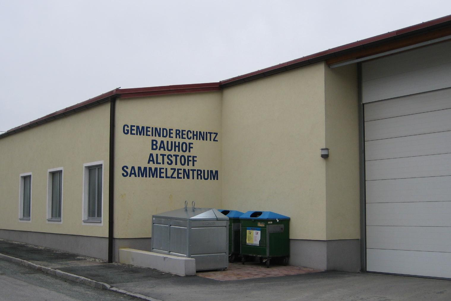 Bauhof und Altstoffsammelzentrum, Rechnitz, Südburgenland