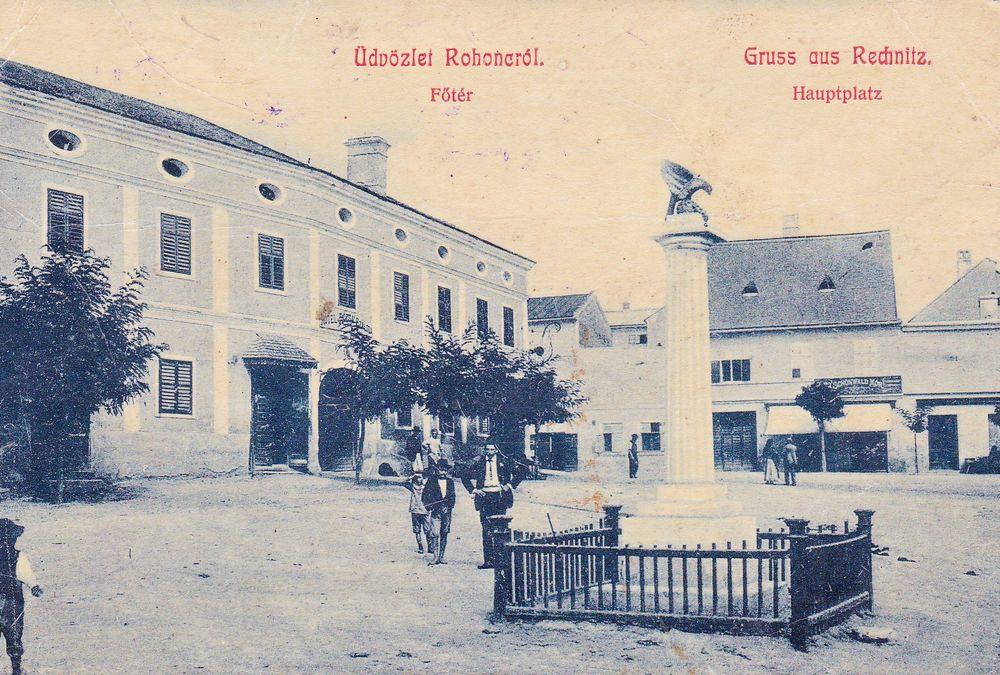 Rechnitzer Hauptplatz um 1909